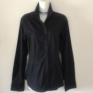 🖤COLDWATER CREEK BLACK BUTTON DOWN-NO IRON!🖤